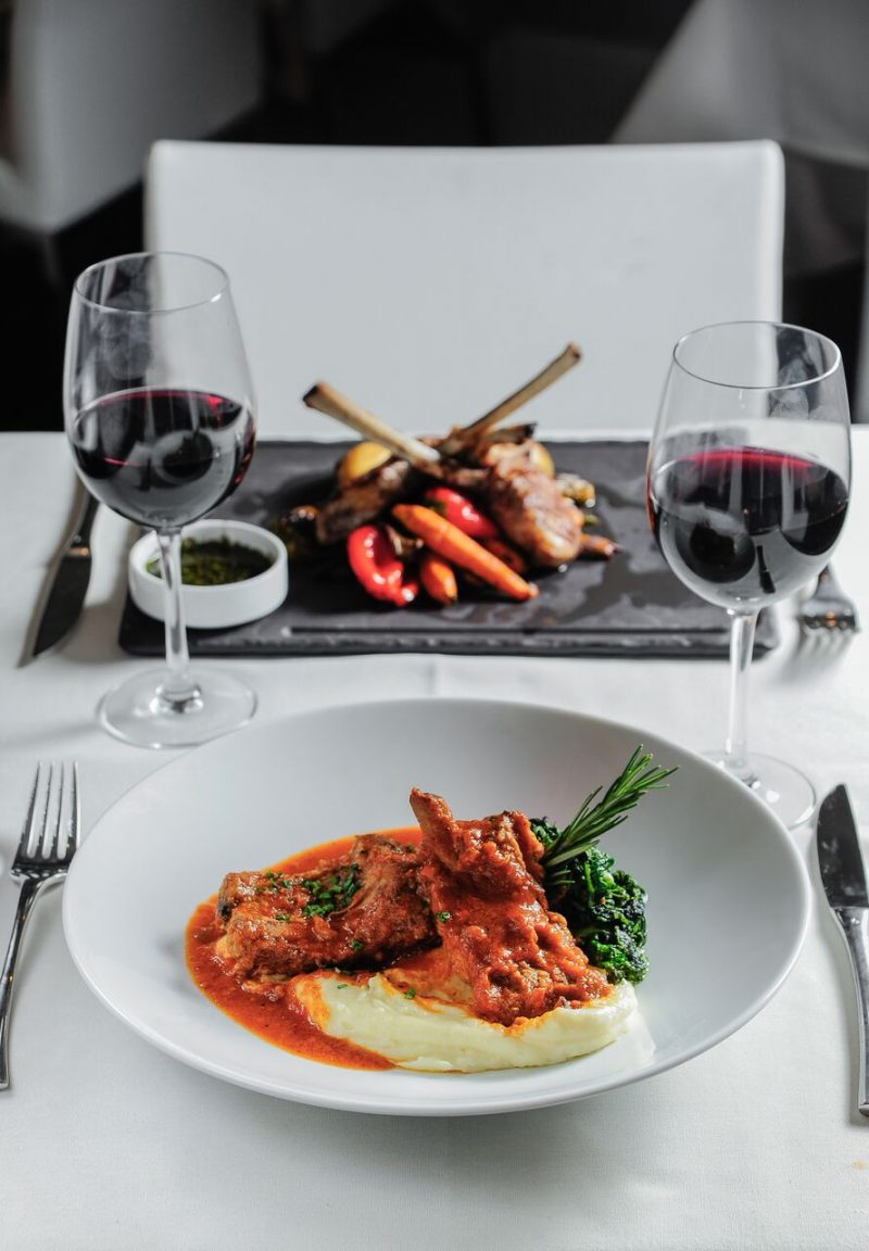 red wine & italian food