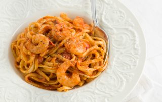 shrimp with pasta